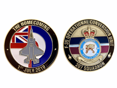 "F-35 Lightning II - Operational Conversion Unit (OCU) coin ""THE HOMECOMING"""