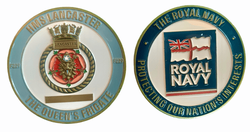 HMS Lancaster Challenge Coin (with FREE name engraving)