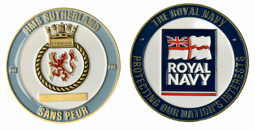 HMS Sutherland Challenge Coin (with FREE name engraving)
