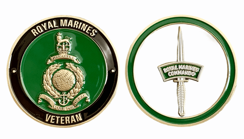 Royal Marines Veteran Challenge Coin