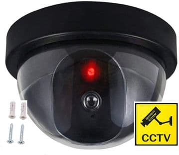 Dummy Dome CCTV Security Camera with Flashing LED Indoor Outdoor Fake