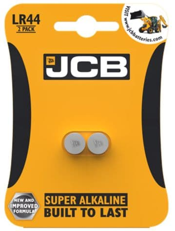 JCB LR44 Pack of 2 Coin Button Batteries FREE POSTAGE