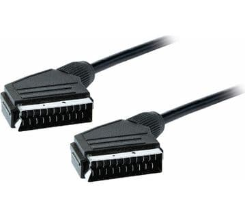 SCART to SCART Cable Lead Wire 1.5m 4.9ft All 20 Pins Connected