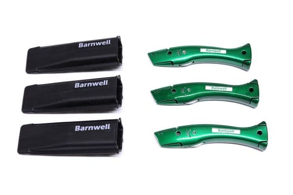 Barnwell Pack of 3 Dolphin Knives and Holster - Candy Green