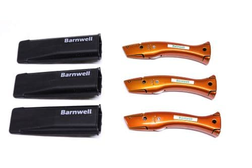 Barnwell Pack of 3 Dolphin Knives and Holster - Candy Orange