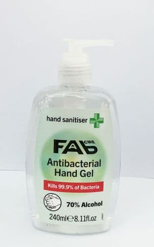 FAB Care Antibacterial Hand Gel - Hand Sanitizer 240ml
