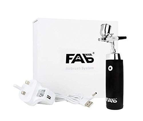 FABHair & Beauty Airbrush System - Professional Cordless Portable Airbrush and Compressor