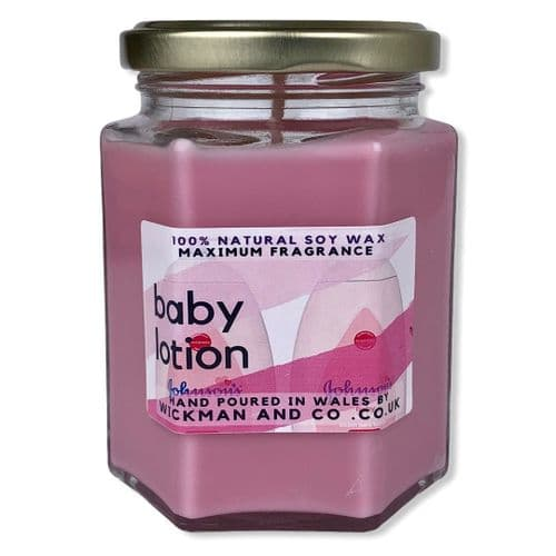 Baby Lotion Soy Wax Candle