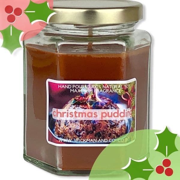 Christmas Pudding Soy Wax Candle