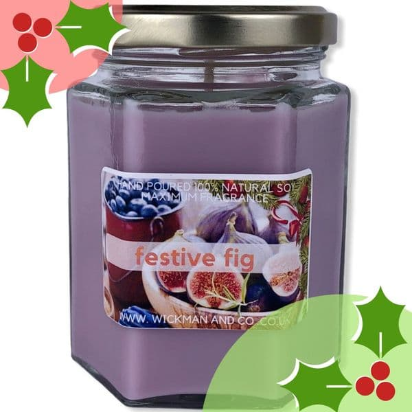 Festive Fig Soy Wax Candle