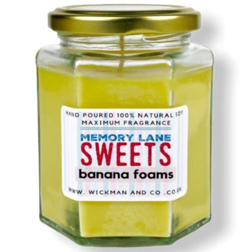 Memory Lane Sweets - Banana Foams Soy Wax Candle