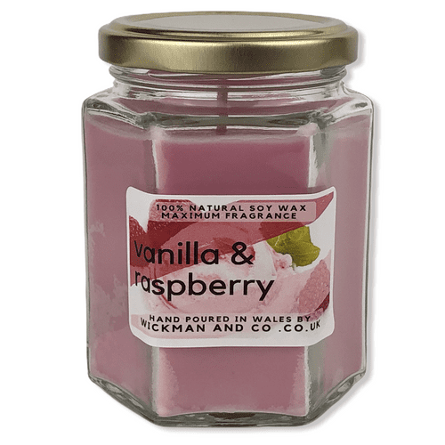 Vanilla & Raspberry Soy Wax Candle