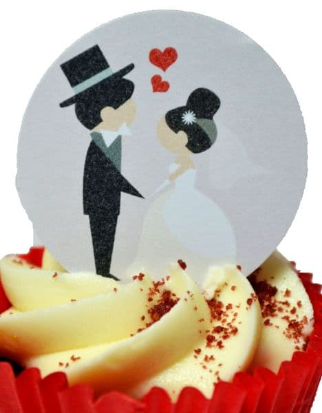 Edible cake toppers decoration - Bride and Groom
