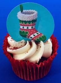Edible cake toppers decoration - Christmas Stocking