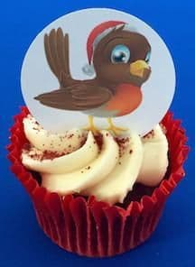 Edible cake toppers decoration - Robin Redbreast