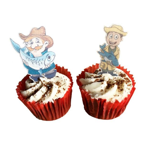 Fishing, Angling, Fish edible cake toppers and decorations