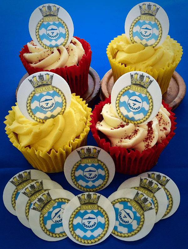 Royal Navy cake toppers - Royal Navy UClass crest