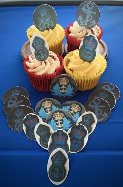 WRNS Wrens cake toppers - Wrens/WRNS badges