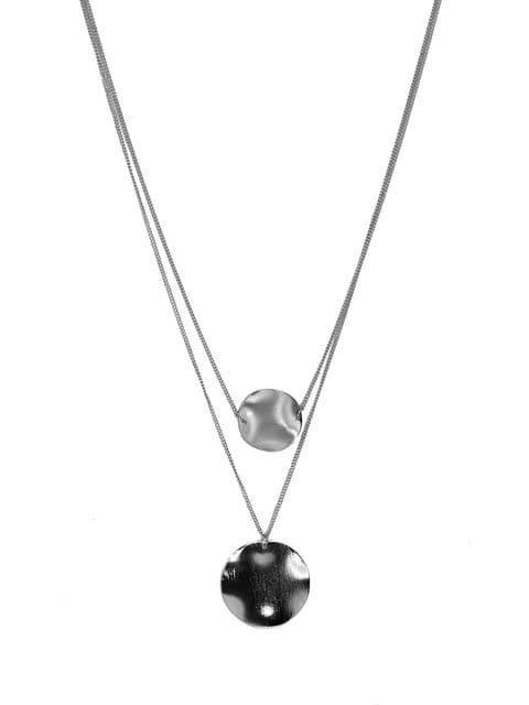 ANOUK 2 LAYER SILVER NECKLACE