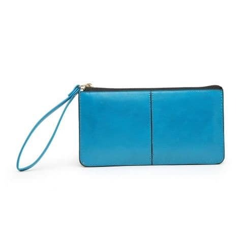 BABS DOUBLE POCKET PURSE AQUA