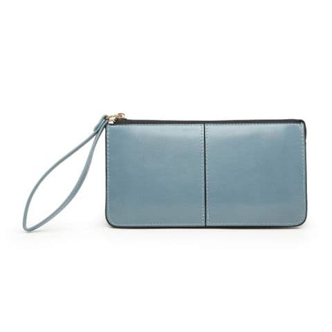 BABS DOUBLE POCKET PURSE BLUE