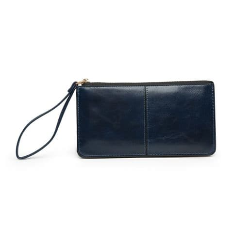 BABS DOUBLE POCKET PURSE NAVY