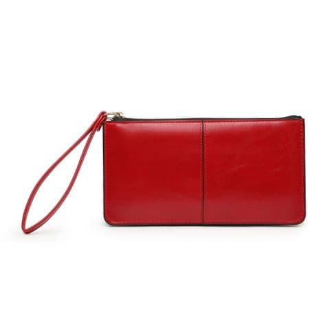 BABS DOUBLE POCKET PURSE RED