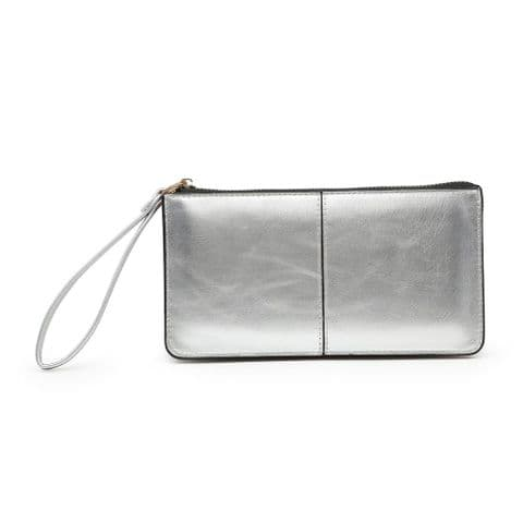 BABS DOUBLE POCKET PURSE SILVER