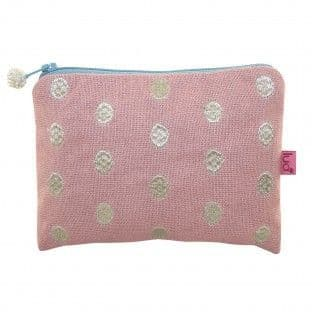 BLUSH EMBROIDERED DOTS PURSE