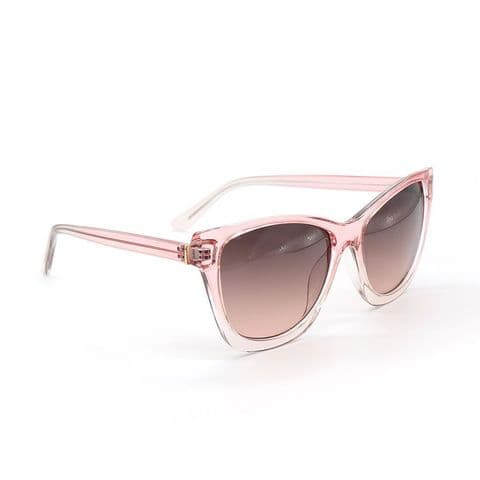 BLUSH PINK TRANSLUCENT OVERSIZE SUNGLASSES