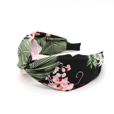 BOTANNICAL LEAF HEADBAND BLACK