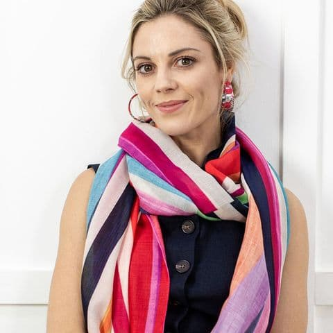 BRIGHT STRIPE SCARF
