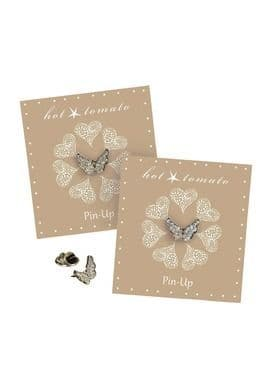 BUTTERFLY WINGS PIN CLEAR
