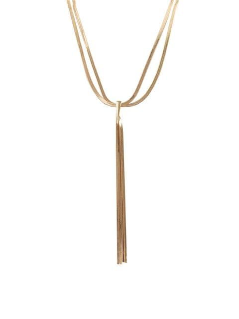 CAPRICE SLINKY CHAIN NECKLACE GOLD
