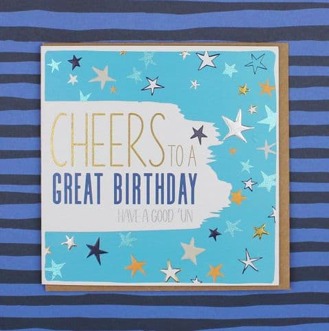 CHEERS TO A GREAT BIRTHDAY CARD