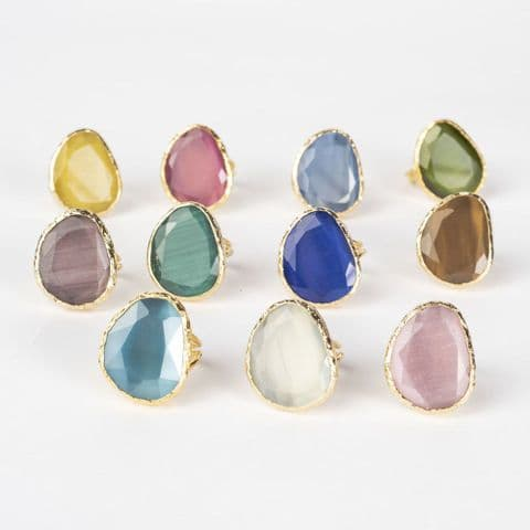 COCKTAIL RINGS- BRIGHT BLUE