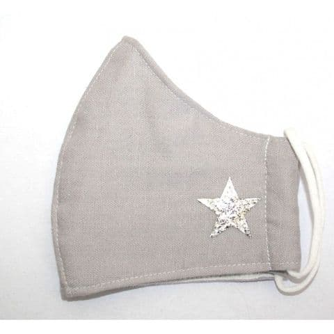 CURVED FACE MASK STAR GREY