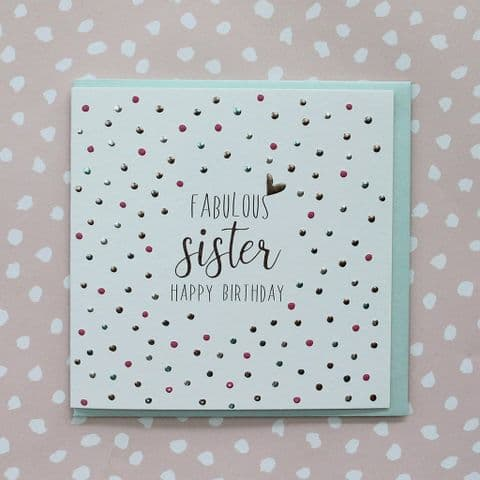 FABULOUS SISTER CARD