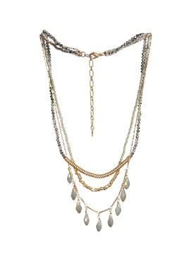 GREY / GOLD LAYERED NECKLACE