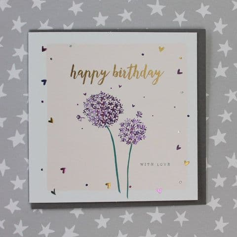 HAPPY BIRTHDAY ALLIUMS CARD