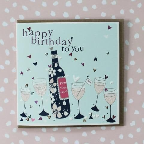 HAPPY BIRTHDAY POP FIZZ CLINK CARD