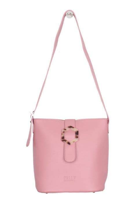 ISABELLA SMALL PINK SHOULDER TOTE