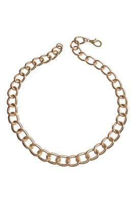 LARGE CHAIN SHORTY GOLD NECKLACE