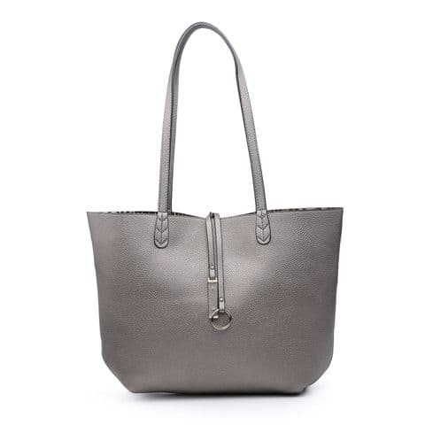 LILY PEWTER LEOPARD TOTE