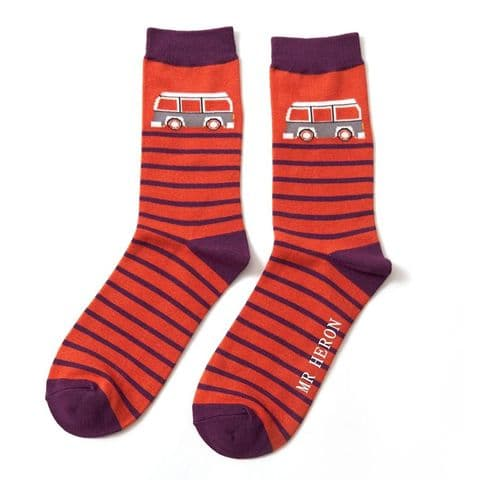 MENS ORANGE CAMPER SOCKS