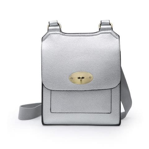 MIA CROSSBODY METALLIC GREY