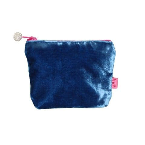 MINI VELVET PURSE BLUE