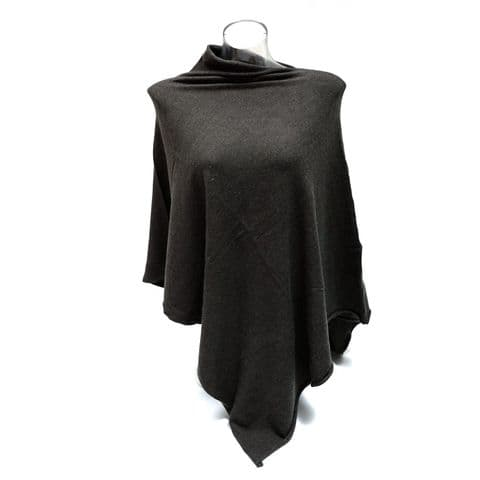 PLAIN PONCHO CHARCOAL