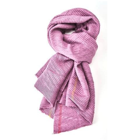 PLEATED THICK SCARF PURPLE