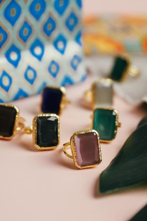 RECTANGLE COCKTAIL RINGS
